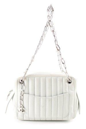 Chanel Borsa a tracolla bianco motivo trapuntato stile professionale