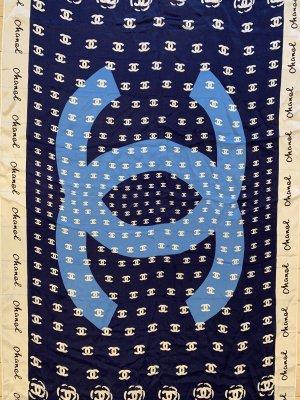 Chanel Écharpe en soie multicolore