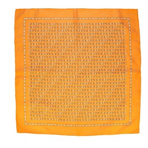 Chanel Pañuelo de seda naranja dorado Seda