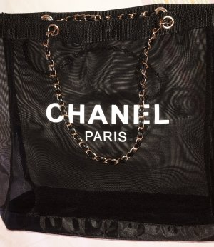 Chanel Borsa shopper nero-bianco