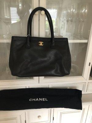 Chanel Sac à main noir-doré cuir
