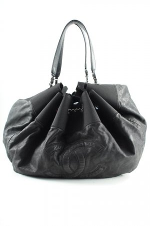 Chanel Shopper noir-gris anthracite élégant
