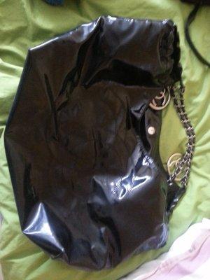chanel shopper schwarz lack riesig tasche