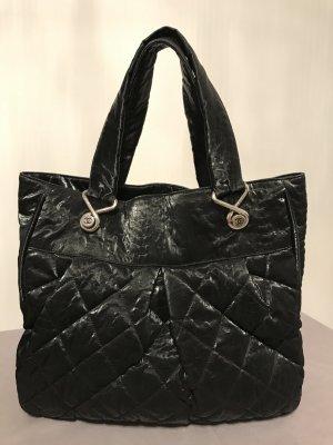 Chanel Borsa shopper nero Tessuto misto