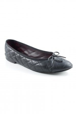 Chanel Bailarinas sin talón negro estilo romántico