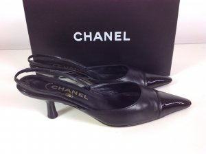 Chanel Slingback Pumps Gr. 37 schwarz