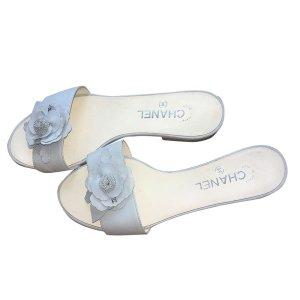 Chanel Slippers, Sandalen aus Leder