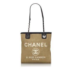 Chanel Borsa larga beige