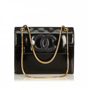 Chanel Snake Chain Patent Leather Shoulder Bag