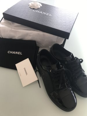 Chanel Lace-Up Sneaker black