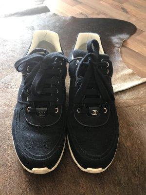 Chanel Sneaker blau marine/weiß