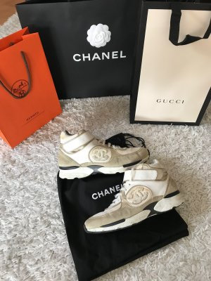 Chanel Sneaker Leder Suede High Top Rechnung Blogger Luxus Espadrilles Mules