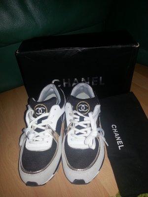 Chanel Sneaker Trainers Turnschuhe 39 Beige Gold w.neu