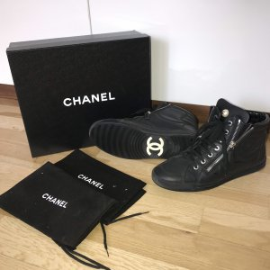 Chanel Sneaker Turnschuhe Sportschuhe Sneakers Schwarz 38