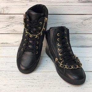 Chanel Sneaker stringata nero Pelle