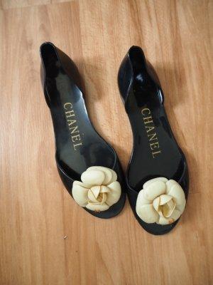 Chanel Sandalias para uso en exteriores negro Nailon