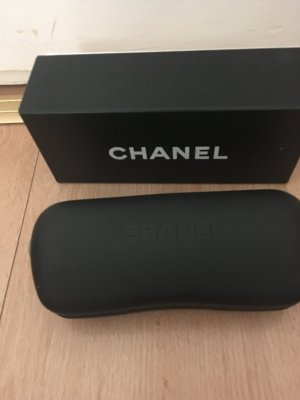 Chanel Gafas Retro color oro-marrón oscuro