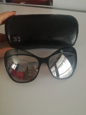 Chanel Butterfly Glasses black-silver-colored synthetic material