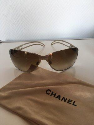 Chanel Occhiale da sole ovale argento