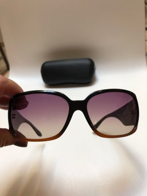 Chanel Lunettes de soleil ovales brun foncé