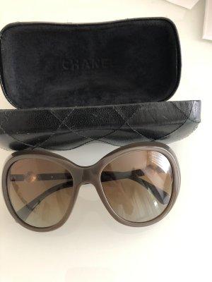 Chanel Lunettes de soleil ovales brun-marron clair