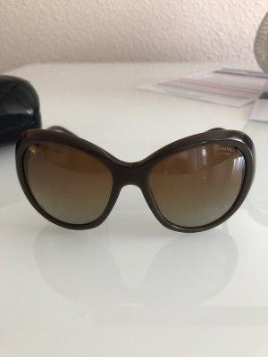Chanel Occhiale da sole ovale marrone-marrone chiaro