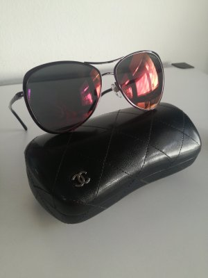 Chanel Aviator Glasses carmine metal