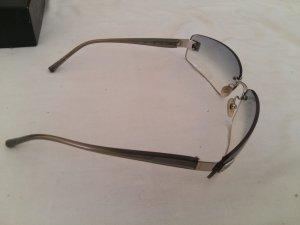 Chanel Gafas de sol ovaladas azul neón acero inoxidable