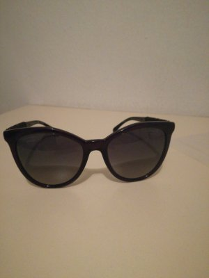 Chanel Oval Sunglasses dark blue synthetic material