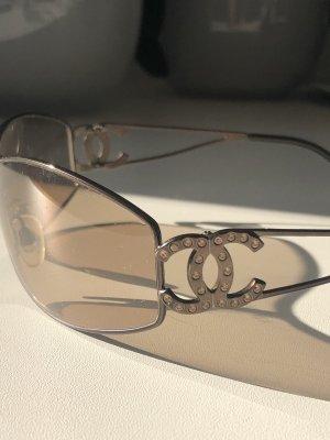 Chanel Occhiale da sole ovale bronzo