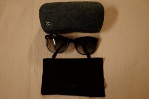 Chanel Glasses black-silver-colored