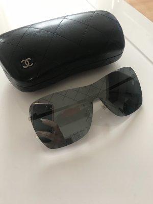 Chanel Occhiale da sole spigoloso nero-antracite