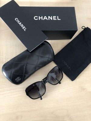Chanel Gafas de sol cuadradas negro-color oro