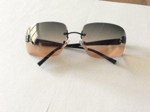 Chanel Occhiale da sole spigoloso grigio-color carne Vetro
