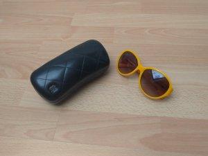 Chanel Ronde zonnebril sleutelbloem-geel