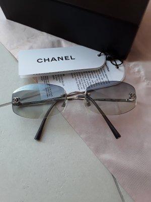 Chanel Ovale zonnebril lichtgrijs Metaal