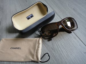 CHANEL Sonnenbrille made in Italy 6018 c.909/13 braun gold