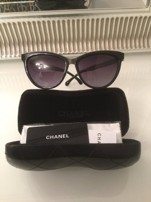 Chanel Occhiale a farfalla nero-argento