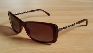 Chanel Accessory carmine-bordeaux synthetic material