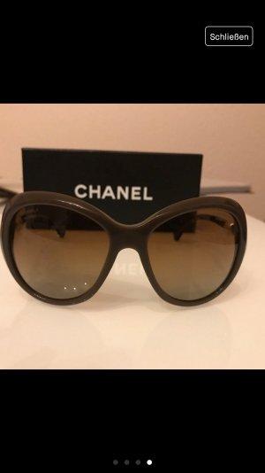 Chanel Ronde zonnebril bruin-lichtbruin