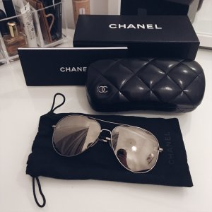 Chanel Glasses silver-colored