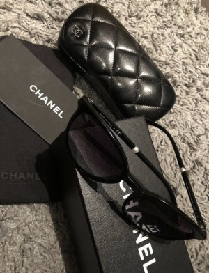 Chanel Lunettes rondes noir acétate
