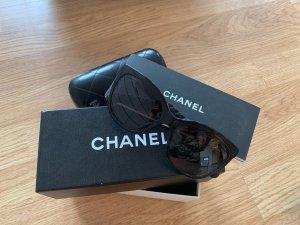 Chanel Hoekige zonnebril zwart