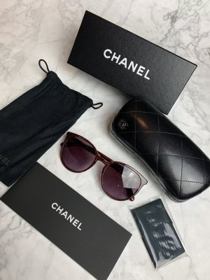 Chanel Occhiale da sole ovale multicolore