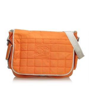 Chanel Gekruiste tas oranje Nylon