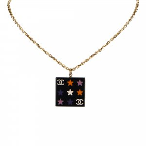 Chanel Star Pattern Pendant Necklace
