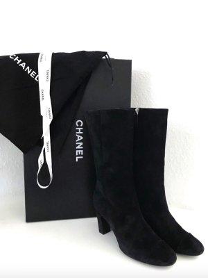 Chanel Laarzen met hak zwart Suede