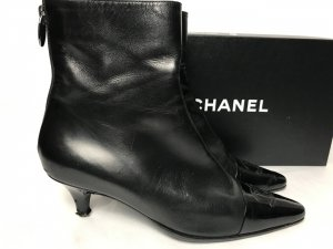 Chanel Booties black leather