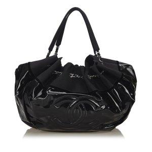 Chanel Borsa sacco nero Clorofibra
