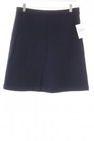 Chanel Knitted Skirt dark blue classic style